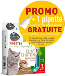 Pipette Tratitement Anti-Puce Chat